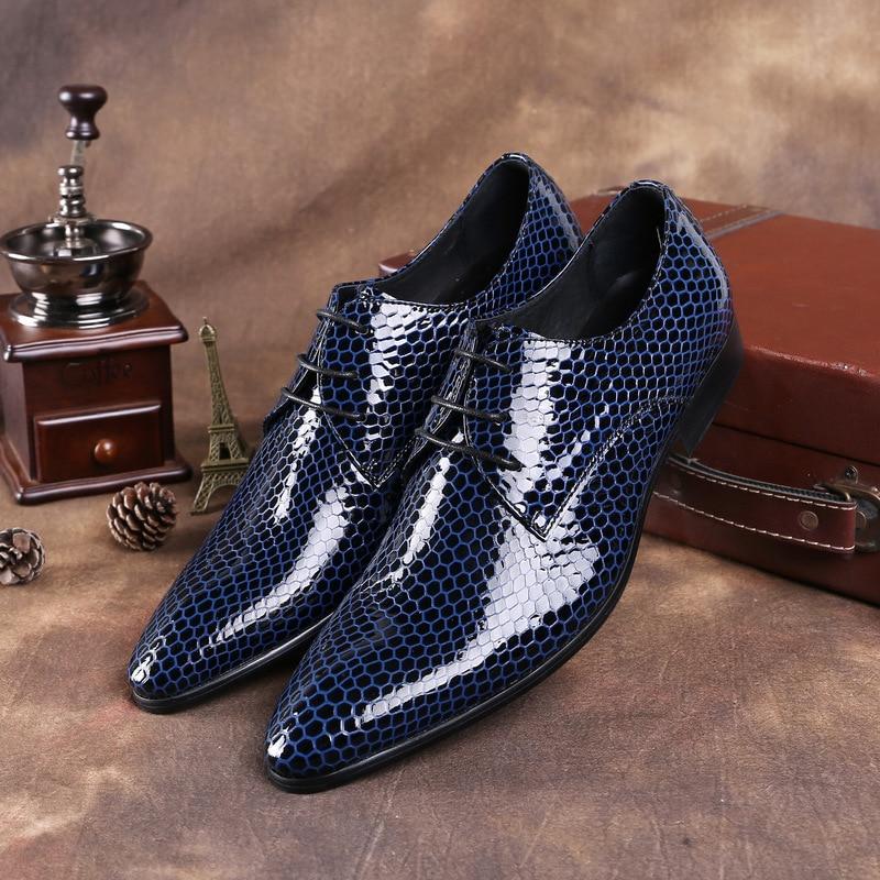 Hombres Punto Cuero Moda El Frenillo Vestido Los Casarse Patente Para Negocios Fiesta Cabeza En 2019 Tuziblobo Zapatos Con De wqtxg7