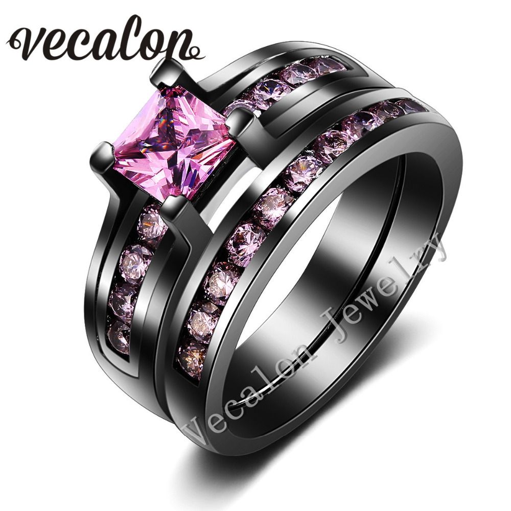 online get cheap pink stone engagement ring -aliexpress