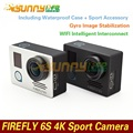 Hawk eye firefly 6 s 4 k fhd impermeable deporte cámara 16mp cmos 800 tvl cámara de la ayuda wifi