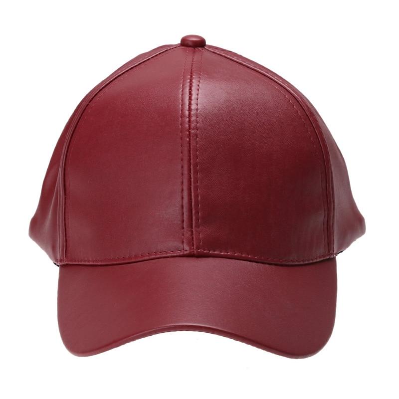 Unisex Mannen Vrouwen PU Lederen Baseballcap Snapback Outdoor Sport - Kledingaccessoires - Foto 5
