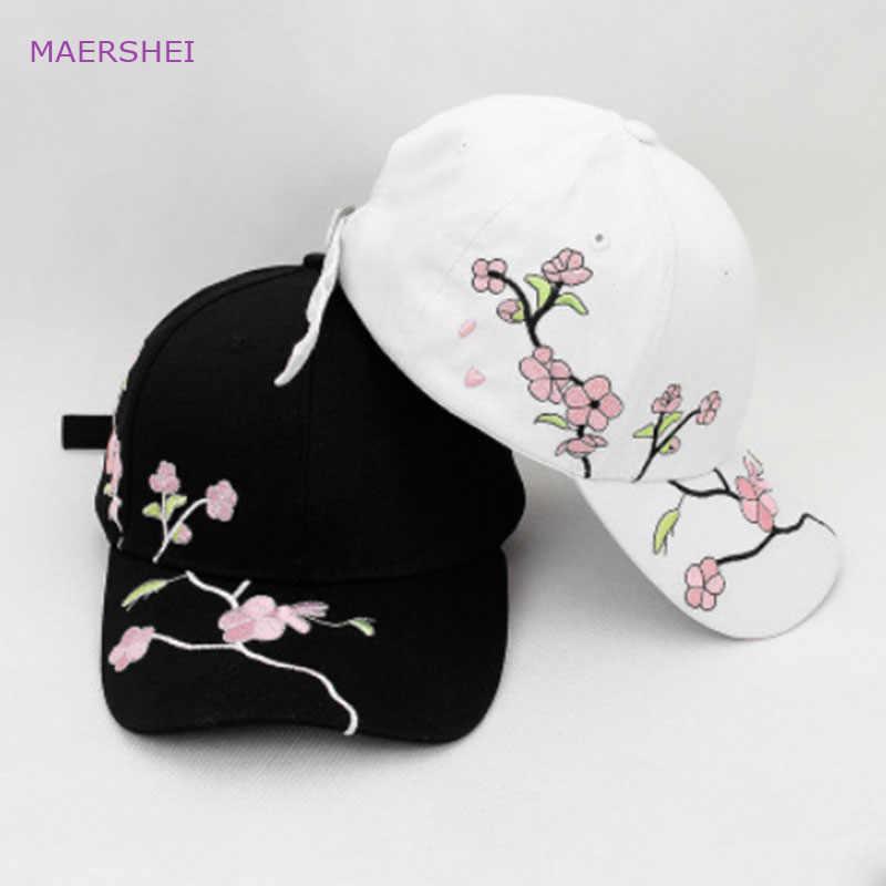 ... Preguntas sobre MAERSHEI flor bordado gorra de béisbol Harajuku verano  femenino moda coreana salvaje tapa sombrilla mujeres algodón curvado sombrero  en ... d9deff2f340
