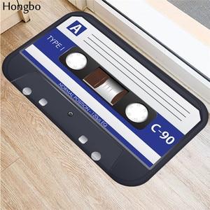 Hongbo Magnetic Tape Mats Anti Slip Floor Carpet 3D Tape Pattern Print Doormat for Bathroom Kitchen Entrance Rugs Home(China)