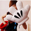 60*42CM Big Size Two Side Novelty Mickey Mouse Palm Cushion Hand Warming Decor Multipurpose Pillow Plush Kids Baby Mickey Toys