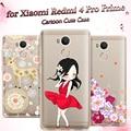 "Original Phone Case for Xiaomi Redmi 4 Pro Case 5.0"" Soft TPU Silicone Cartoon Back Cover Fundas for Xiaomi Redmi 4 Prime Pro"
