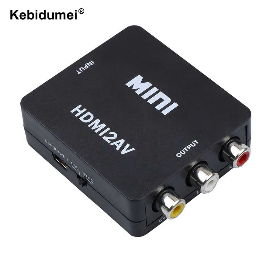 HDMI ke Mini Composite RCA CVBS AV Video Converter Adapter Tua TV 1080 p HRCA HD Video Converter Untuk Kamera HD DVD player