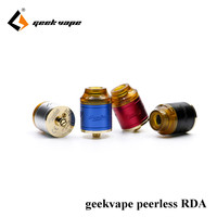 100 Original Geekvape Peerless RDA 24mm Creative Build Deck Support Both Single Dual Coil Ecig Tank