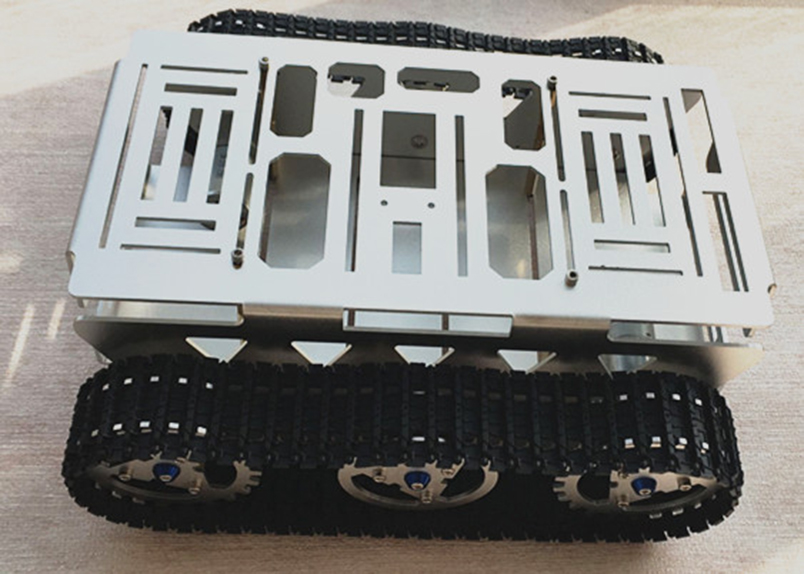 DIY Alloy Tank Intelligence Car Vehicle Platform Tracked Robot Metal Aluminium Chassis with Powerful Motor for STEM Education цена