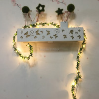 IP65 Handmade 5M 50 LED Leaf Garland Battery Operate Copper LED Fairy String Lights For Xmas