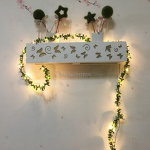 IP65 Handmade 5M 50 LED leaf garland battery operate Copper LED fairy string lights for Xmas wedding decoration holiday lighting