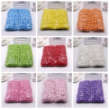 new (144pcs) Multicolor PE Rose Foam Mini artificial silk Flowers Bouquet SolidColor/wedding decoration 2.5CM Diameter