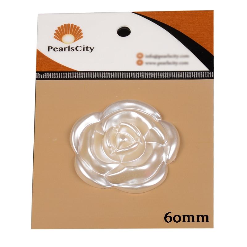 Новый 24/45/60 мм большая жемчужина выросла Бауайния цветок плоской задней половины шарики для ювелирных изделий поиск решений аксессуары 60 шт./пакет