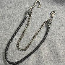 Visual Heavy Gothic Pants Trousers Jean Wallet Ghost Rock Punk Hip-pop Metal Keychain Chain Belt Fashion Men Jewelry KL03