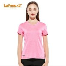 Бесплатная доставка-NEW Laynos HQ Летние женские наружные повседневные влюбленные с коротким рукавом Running Gym Sport Elastic T-shirt 182A535A