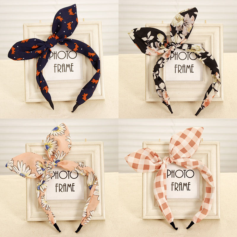 Women Hairband Fabric Bow Knot Hair Hoop Rabbit Ears Headband for Women Hair Accessories Headwear