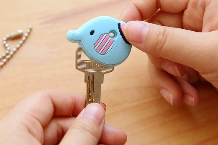 Anime bonito dos desenhos animados capa para chave de silicone mickey stitch urso chaveiro presente das mulheres coruja porte clef minne chaveiro