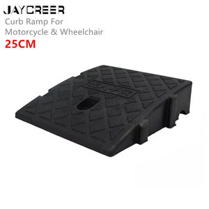 JayCreer 25X27CM Portable Lightweight Plastic Curb Ramps For Wheelchair Mobility ,Scooter, Bike, Motorcycle,Loading Dock, Car(China)