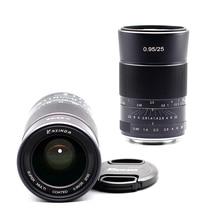 เลนส์มือหมุนKaxinda 25 มม.F0.95 คู่มือมาตรฐานPrimeเลนส์สำหรับCanon Sony Fujifilm Olympus Panasonic Mirrorlessกล้องรูรับแสงขนาดใหญ่F/0.95