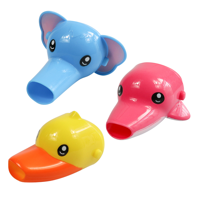 1 pc Free shipping Happy Fun Animals Faucet Extender Baby Tubs Kids Hand Washing Bathroom Sink Gift Fashion and Convenient 2