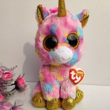 8cbc8c4cb69 25CM FANTASIA UNICORN WITH TAG AND LABEL TY BEANIE BOOS Plush Toys Stuffed  animals BABY TOYSKIDS
