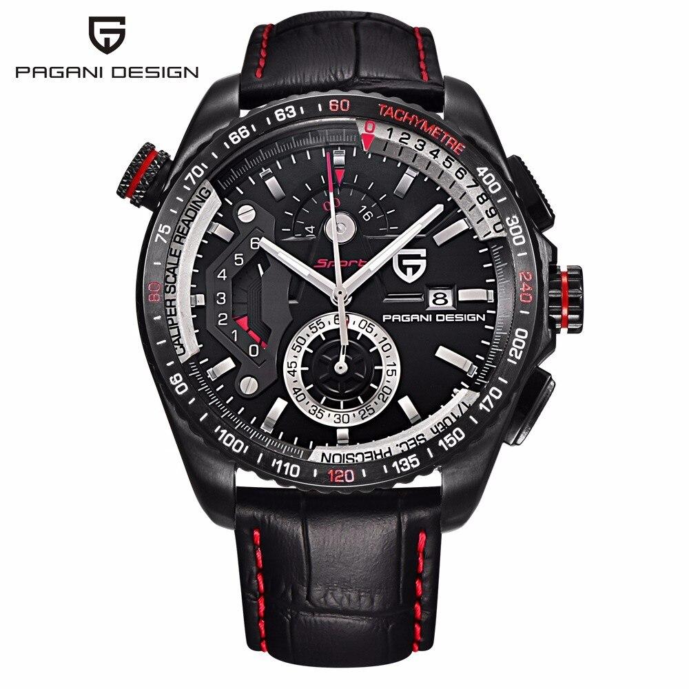 Originais PAGANI PROJETO Chronograph Desporto Relógios Movimento Japão Caixa de Aço Inoxidável À Prova D' Água Relógios de Quartzo Relogio masculino