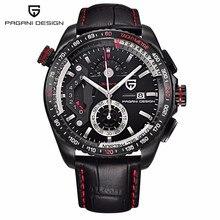 Оригинальный PAGANI Дизайн спортивные часы с хронографом японский механизм корпус из нержавеющей стали водонепроницаемые кварцевые часы Relogio Masculino