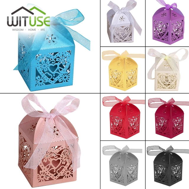 Free Shipping 50 X Gold Wedding Candy Box Water Droplet Gift Hershey S Chocolate
