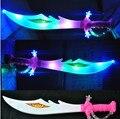 Из светодиодов игрушки световой меч с музыкой сабля de luz дети подарок звездные войны световой меч музыка вспышкой меч