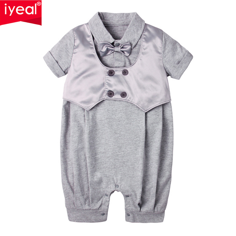 IYEAL Baby Boy Clothes Christening Gowns Fashion Fake Two Pieces Baby Clothes for Wedding Newborn Infant Toddler Rompers baby set baby boy clothes 2 pieces