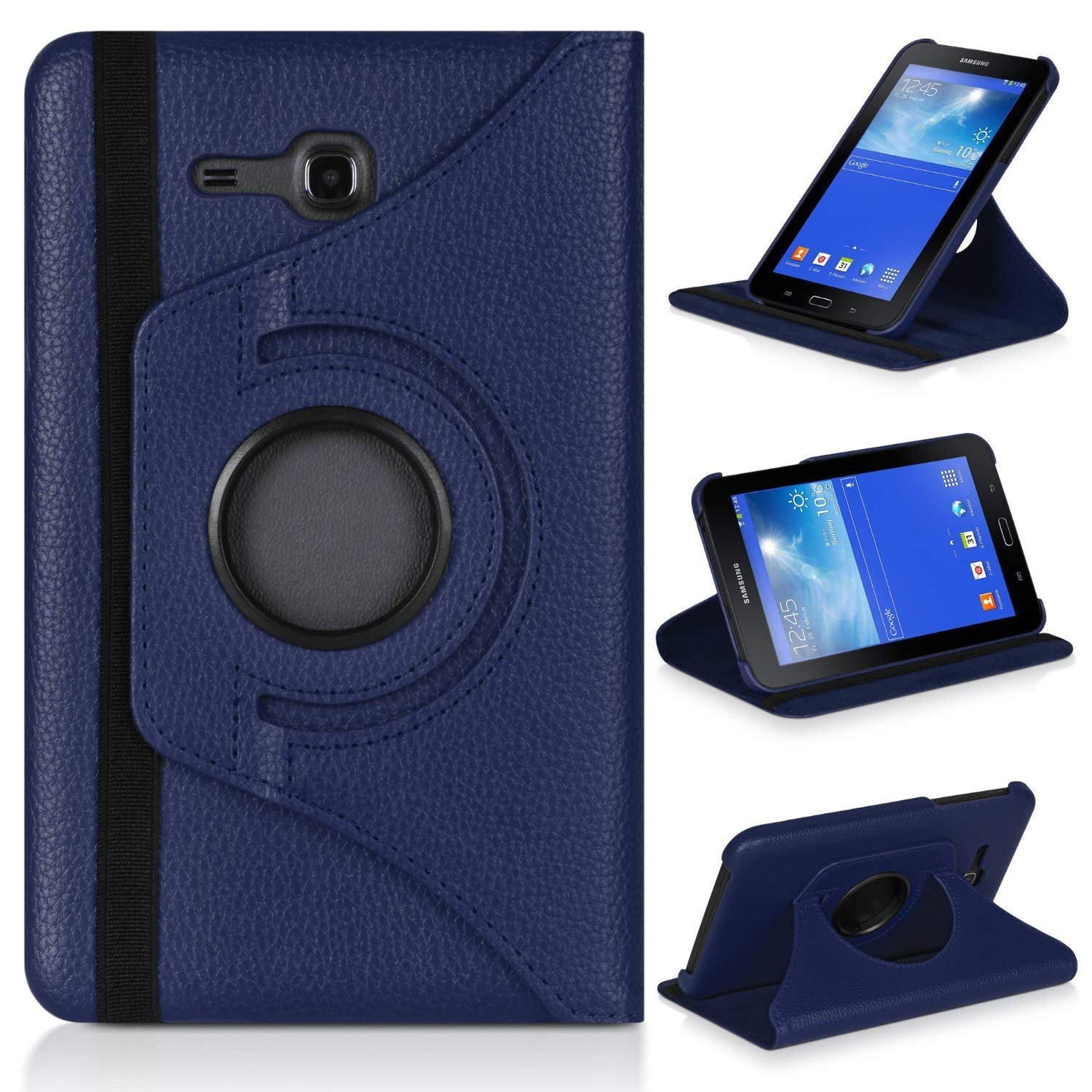 Capa-Cover Case Glass Tab3-Lite Galaxy Tab T110 SM-T113 Samsung Rotation-Holder for Funda title=