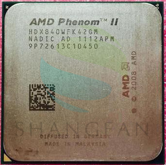 AMD  Phenom X4 840 X4-840 Quad-Core DeskTop CPU  HDX840WFK42GM Socket AM3