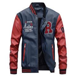 2018 мужская бейсбольная одежда PU повседневная куртка