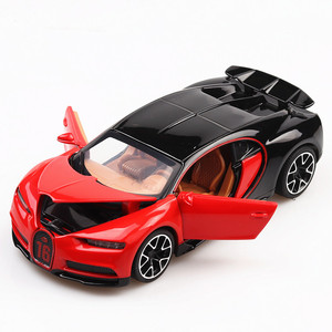 Image 4 - 1:32 Diecast Car Model Metal Sports Car Alloy Car Simulation Racing Model Sound Light Door Pull Back Car Boy Toy For Kids Gift