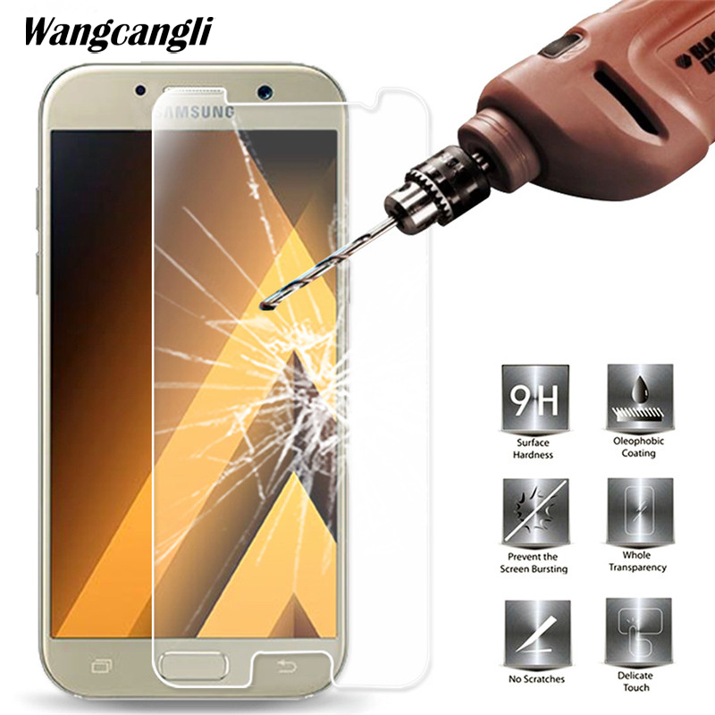 Tempered Glass For Samsung Galaxy A3 A6 A7 A8 J3 J5 J7 S6 2016 2017 2018Screen Protector 0.28mm 9H Protective Film Case Glass