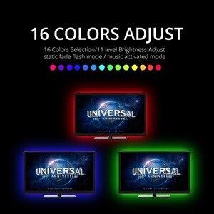 Image 3 - 5V RGB usbli şerit LED ışıklı bant 5050 tira led USB diyot bant su geçirmez 1M 2M 3M TV arkaplan ışığı bande aydınlatma dekorasyon lambası