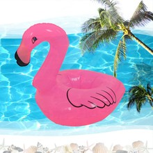 Creative Inflatable Flamingo Drink Can Cell Phone Holder Stand Coasters Float Pool Toy for Kids Fun Swimming Floatation Device