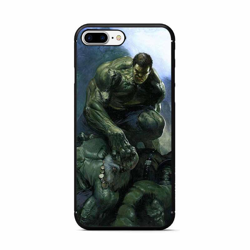 O Incrível Hulk TPU Macio Phone Case para iPhone 5 11 Pro 5S 6 6s 7 8 Plus X XR XS MAX