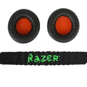 Image 5 - Almofada para fones de ouvido gamer, substituição de forro acolchoado para Razer Kraken Pro 7.1 ou Electra