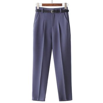 BGTEEVER OL Style White Women Pants Casual Sashes Pencil Pant High Waist Elegant Work Trousers Female Casual pantalon femme 5