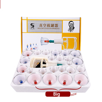 24pcs Cans cups chinese magnetic vacuum cupping kit pull out a facial apparatus therapy relax massagers curve suction pumps face
