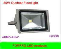 2pcs 50W LED floodlight Cool white 110V 220V Waterproof led flood lights outdoor lamp