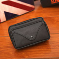 2017 New Casual Men Fanny Pack Pu Leather Men's Wasit Bag Brown Black Zipper Design Waist Packs Mobile Phone Bags Coin Purse