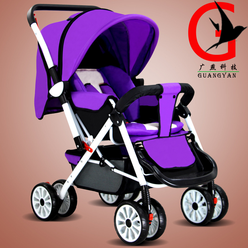 Baby Stroller Pram Children Pushchair travel stroller Folding ultra-light two-way umbrella car HW-606 black baby stroller ultra light four wheel boarding folding baby stroller car carriage umbrellababy stroller two way wheeled