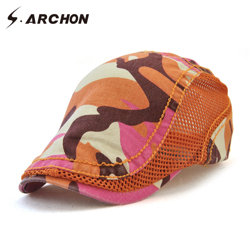 6fd89e0a03e84 Aliexpress.com   Buy S.ARCHON Spring Summer Beret Cap Camouflage Military  Tactical Army Berets Hat Men Casual Breathable Sunproof Caps 5 Colors from  ...