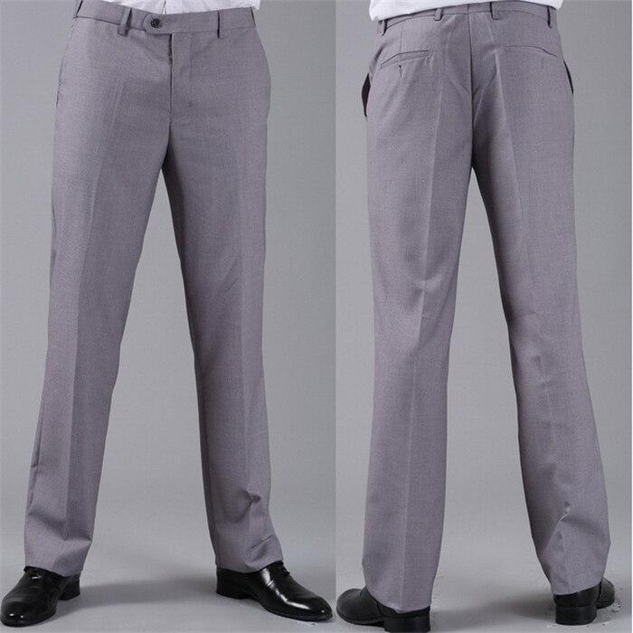 Мужские костюмные брюки модные свадебные формальные 12 цветов повседневные брюки известный бренд блейзер брюки Деловое платье брюки CBJ-H0284 - Цвет: slim light grey