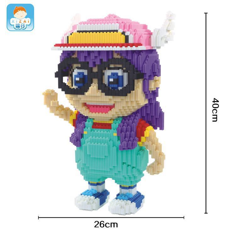 Big size Cute Anime Building Bricks Xizai Connection Blocks Arale Auction Figures Block Toys for Children Xmas Girls Gift 8017