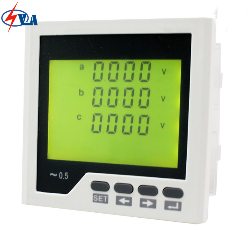3UIF3Y  frame size 96*96 low price ac industrial usage volt current and frequency lcd 3 phase digital combined meter d6 4o panel size 72 72 low price and high quality ac single phase led digital energy meter for industrial usage
