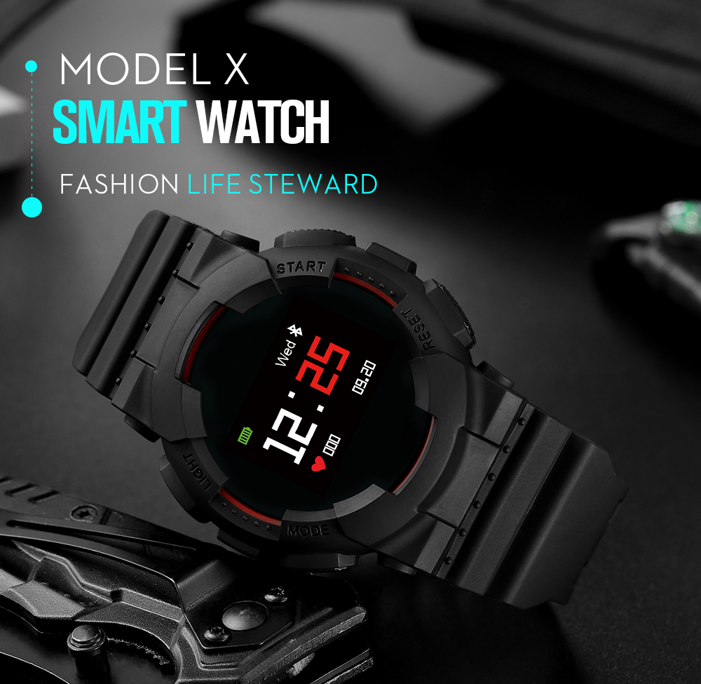 Model X Smart Watch IP68 Waterproof Heart Rate Blood pressure Monitor wireless bluetooth Message Push Smartwatch for IOS Android new x7 smart watch with heart rate clock ultra long standby ip68 waterproof sports smartwatch message push for android ios phone