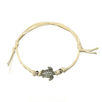 Trendy Beach Turtle Anklets Bracelets Fashion Rope Silver Color Alloy Anklets Chain For Female Party Gift 2