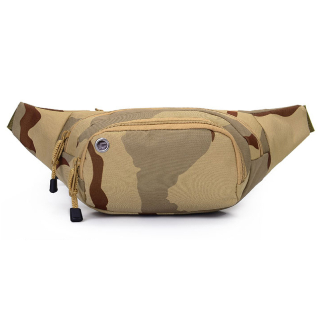 2017 New Korean Men's Waist Packs Multifunctional Waist Bags Mens Casual Chest Bags Camouflage Riding Bags