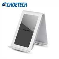 CHOETECH EU Plug 2A Power Adapter With Iron Stand 3 Coils Wireless Mobile Phone QI Standard